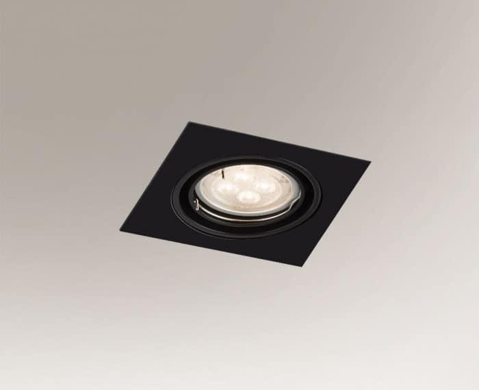 Ceiling lighting point fitting OMURA H 3342 GU10 50W square