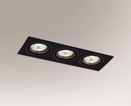 Recessed luminaire OMURA H 3344 GU10 3x 50w downlight