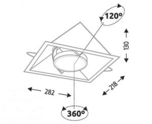 Recessed luminaire SANO 3333 G53 50W mesh small 1