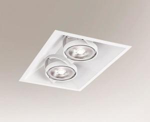 White recessed light SANO 3371 GU10 50W small 0