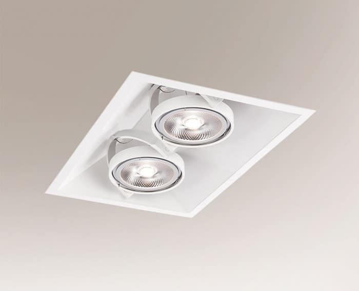 White recessed light SANO 3371 GU10 50W