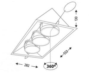 SANO 3372 GU10 50W recessed halogen fixture small 1