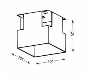 OMURA 3336 spot aluminum mounting box small 1