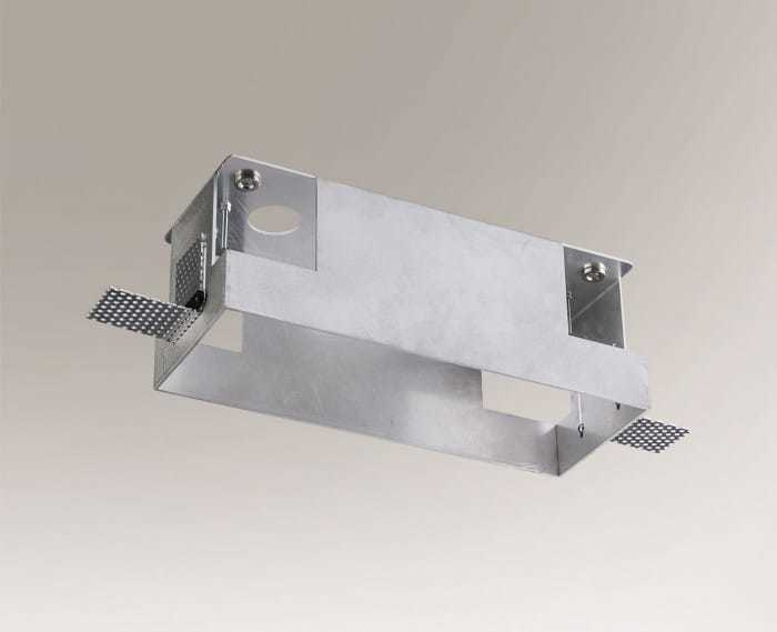 Mounting box OMURA 3338 for a three-point lamp, screwless installation of the lamps