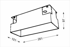 Mounting box OMURA 3338 for a three-point lamp, screwless installation of the lamps small 1