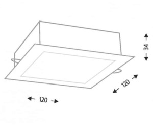 LED recessed lamp TOTTORI IL 3367 10W 850lm square small 1