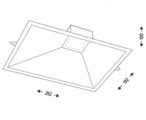 LED recessed light UBE IL 3369 10W 850lm small 1