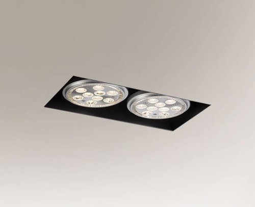 Black recessed lamp YATOMI 3331 GU10 15W