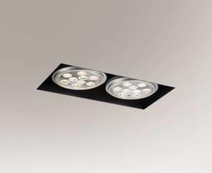 Black recessed lamp YATOMI 3331 GU10 15W small 0