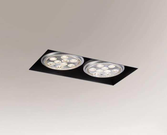 Black recessed lamp YATOMI 3331 GU10 15W