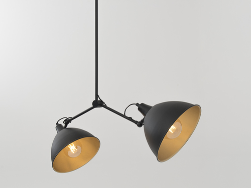 COBEN TWO HEAD hanging lamp - black