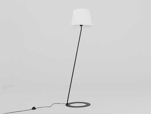 Floor lamp SHADE FLOOR - white, black shade