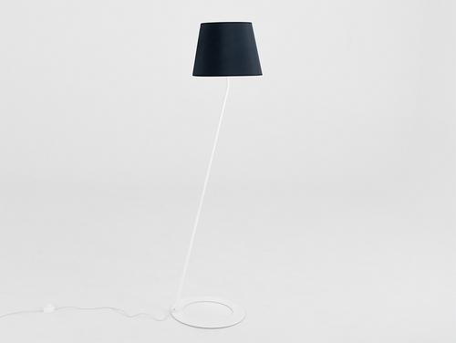 Floor lamp SHADE FLOOR - white, black shade