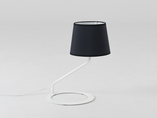 Table lamp SHADE TABLE - white, black shade