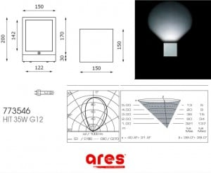 Outdoor wall light Ganos Ares 1X35W 773543.2 small 1