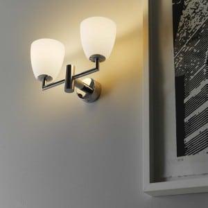 Wall lamp Fontana Arte V006BI VETRO White small 2