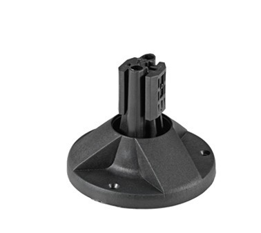 Mounting base with black clip for mounting posts 1000, 150000, 2000 mm
