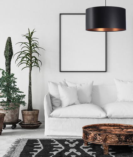 Black copper pendant lamp LEXIE E27 60W latex, satin