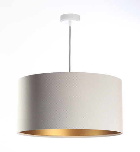Hanging lamp above Leather E27 60W table, beige, gold