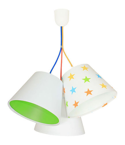 Lamp for children BUCKET E27 60W colorful stars, green