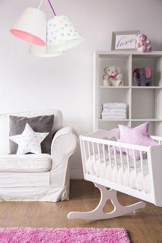 Baby room lamp BUCKET E27 60W dots, white