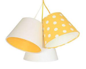 Children's room chandelier BUCKET E27 60W mango, dotted pattern small 1