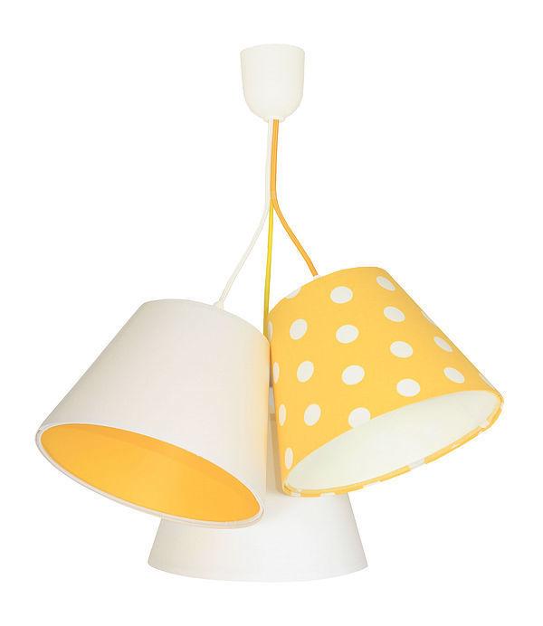 Children's room chandelier BUCKET E27 60W mango, dotted pattern