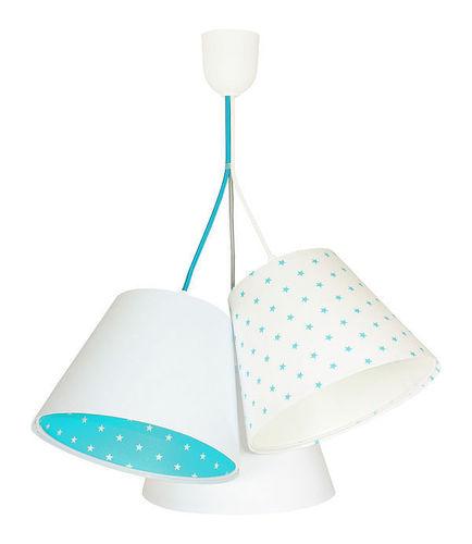 Lamp for the boy's room BUCKET E27 60W white / blue, stars