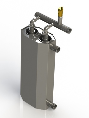 8 kW double-induction boiler for heating the surface of 160m²