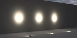 Large floodlight Platek SUN - 6 OCB LED 3000K 14 ° small 7