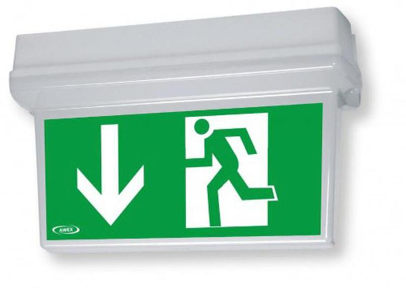 The HELIOS DS IP 65 emergency and emergency lighting luminaire