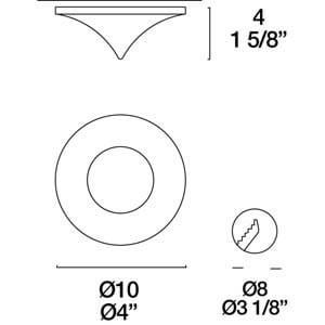 Eyelet Itre (Leucos) SDC 891 halogen luminaire 1X50W GU5,3 small 3