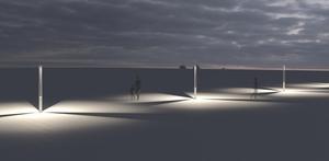 Platek garden lantern - TRIS COB LED 3000K small 9