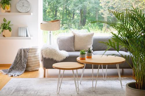Floor standing lamp Crown 60W E27 velor, beige / white