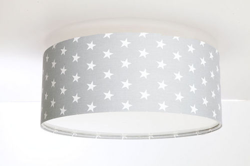 Gray Luminance ceiling lamp for a children's room with E27 60W LED stars