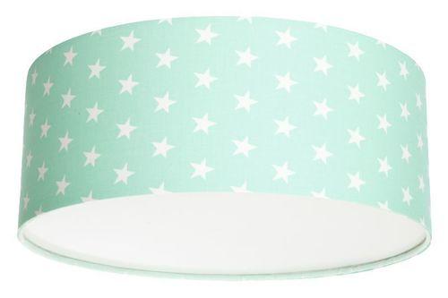 Plafond for a girl Luminance stars E27 60W LED mint