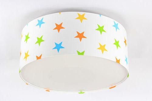 Children's lamp Luminance E27 60W LED white / colorful stars