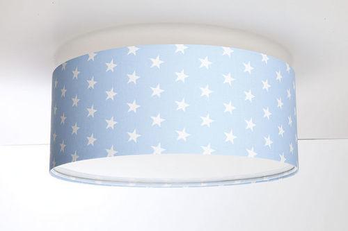 Ceiling lamp for a boy's room - Luminance E27 60W LED powder blue / white ceiling lamp