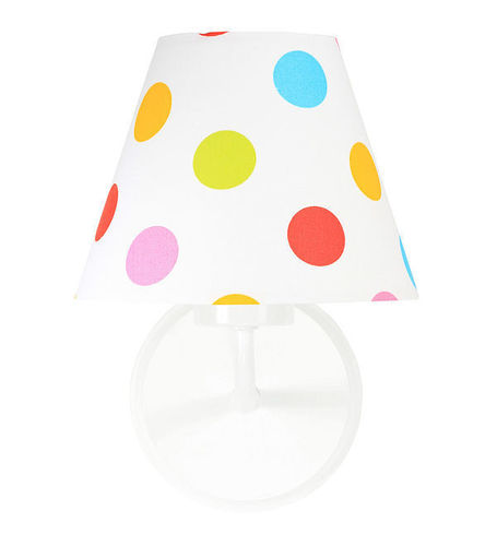 Wall lamp cone with colorful dots Raggio E27 60W for children