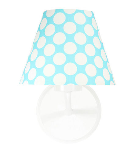 Wall lamp for children's room - Raggio E27 60W turquoise / white dots