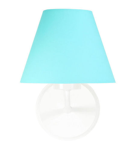 Turquoise wall lamp Raggio E27 60W for a youth room