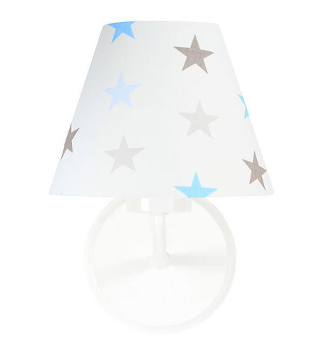Wall lamp for a boy Raggio E27 60W white / gray-blue stars