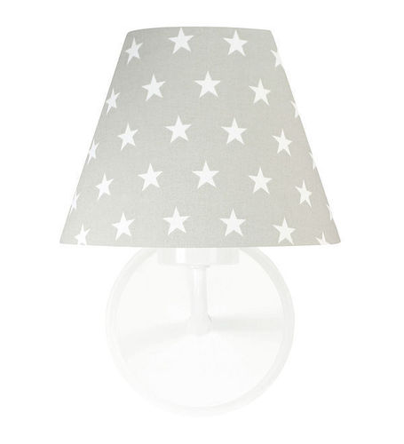 Gray wall lamp Raggio E27 60W print of stars