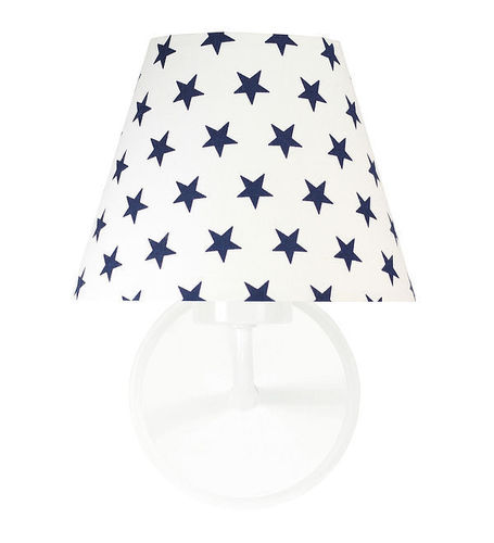 Wall lamp with navy blue stars Raggio E27 60W for a child's room