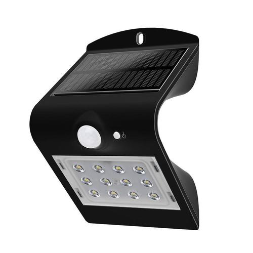 Solar Wall Lamp 1.5W LED 4000K Black 220lm