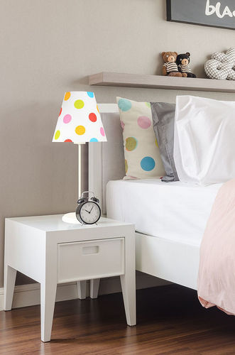 Lamp for children Ombrello 60W E27 50cm colorful dots, on the desk
