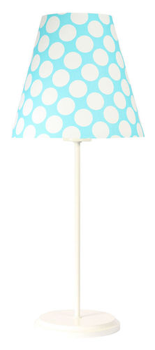 Table lamp with lampshade Ombrello 60W E27 50cm blue / white dots