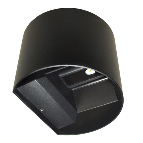 LED facade luminaire Kreo 2x3w round 4000K black Kreo 2x3w 4000K adjustable lighting angle
