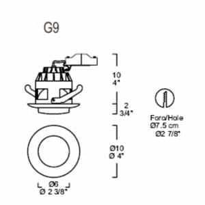 Eyelet Itre (Leucos) SD 505 halogen fixture G9 / GU5,3 small 1