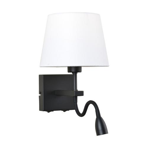 Black Bedside lamps Norte E27 2-bulb